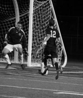 NO ENTRY: Mustang goalkeeper Moses Hernandez  prepares to make a stop against American River. PHOTO BY PETER PEANG