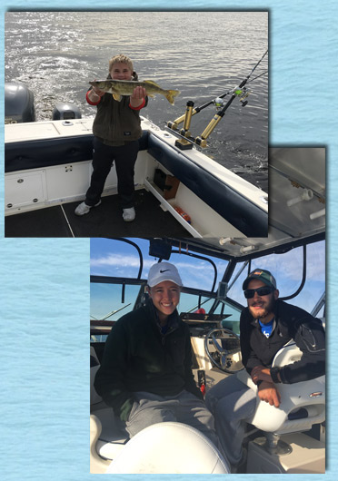 Walleye Rates Lake Michigan from ice out to mid Nov for Salmon, Trout, and Walleye with Delta Dawn Charters