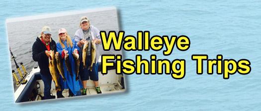 Michigan Fishing Trips - Walleye Fishing Trips - GET OUR CHARTER RATES