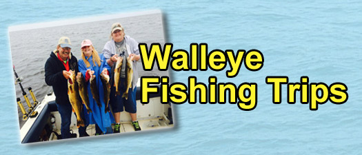 Michigan Fishing Trips - Walleye Fishing Trips - GET OUR CHARTER RATES
