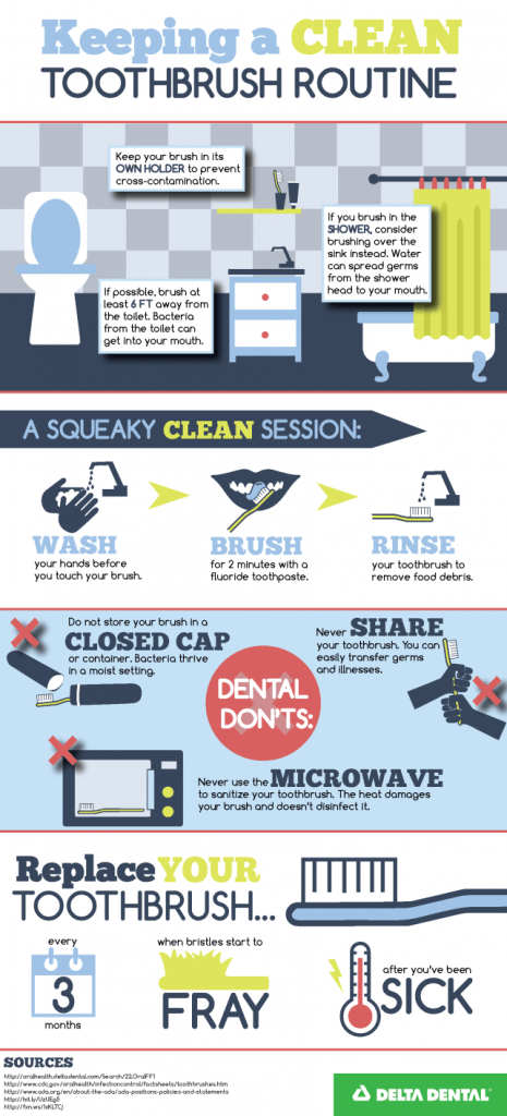 Keeping A Clean Toothbrush Routine PNG