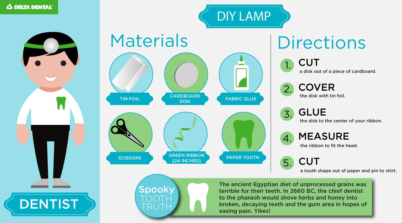 DIY dentist costume for children
