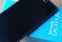 Samsung Galaxy A5 on a Box