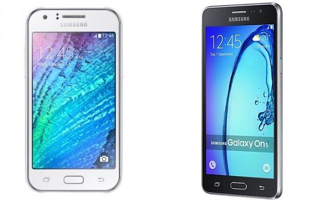 Galaxy J5 vs On5