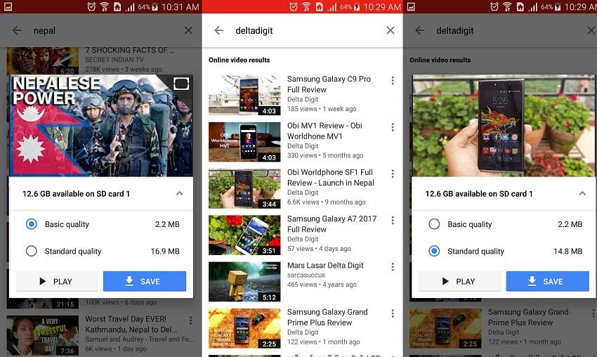 YouTube Go Nepal samples