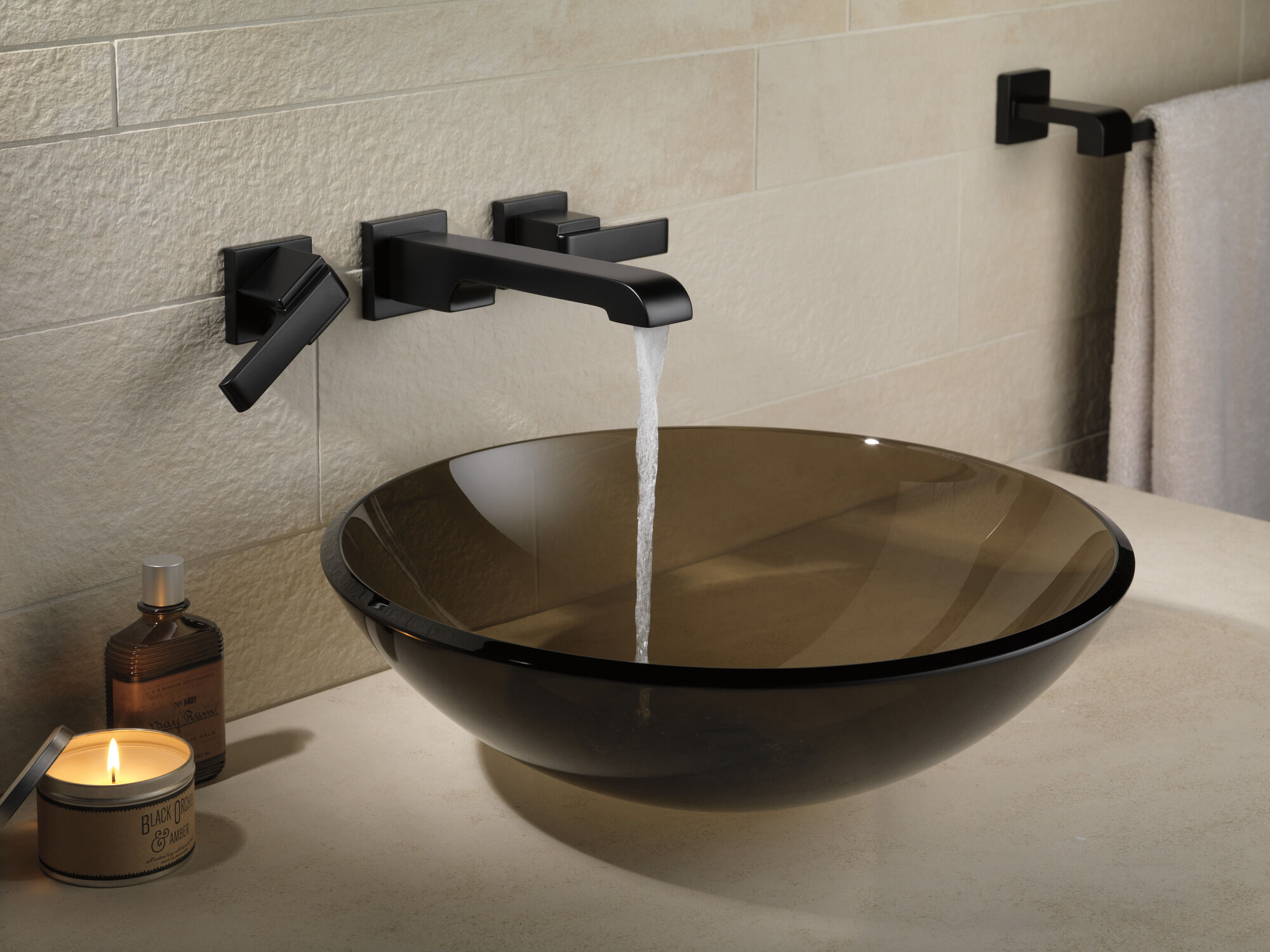 two handle wall mount bathroom faucet trim