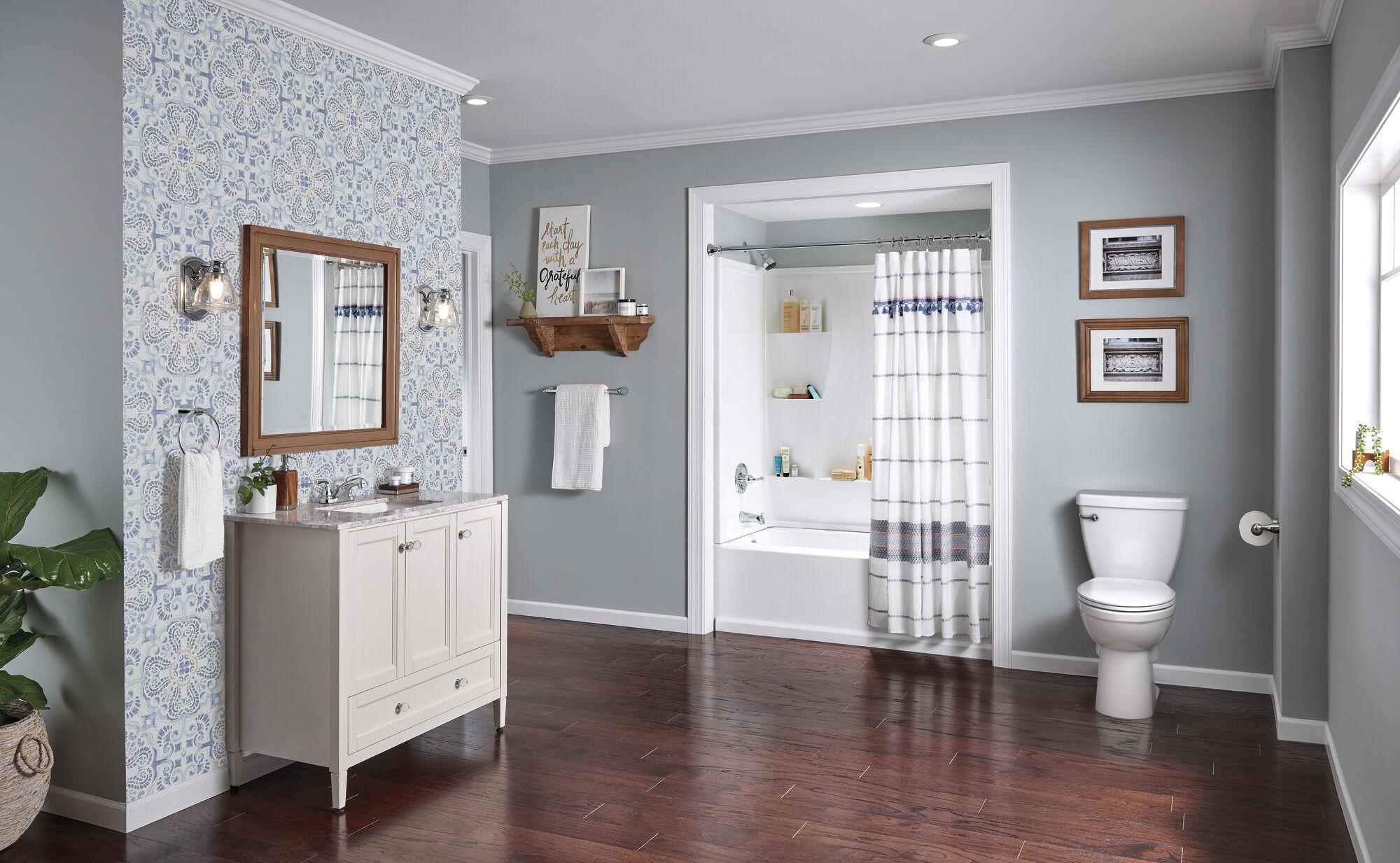 single handle tub and shower