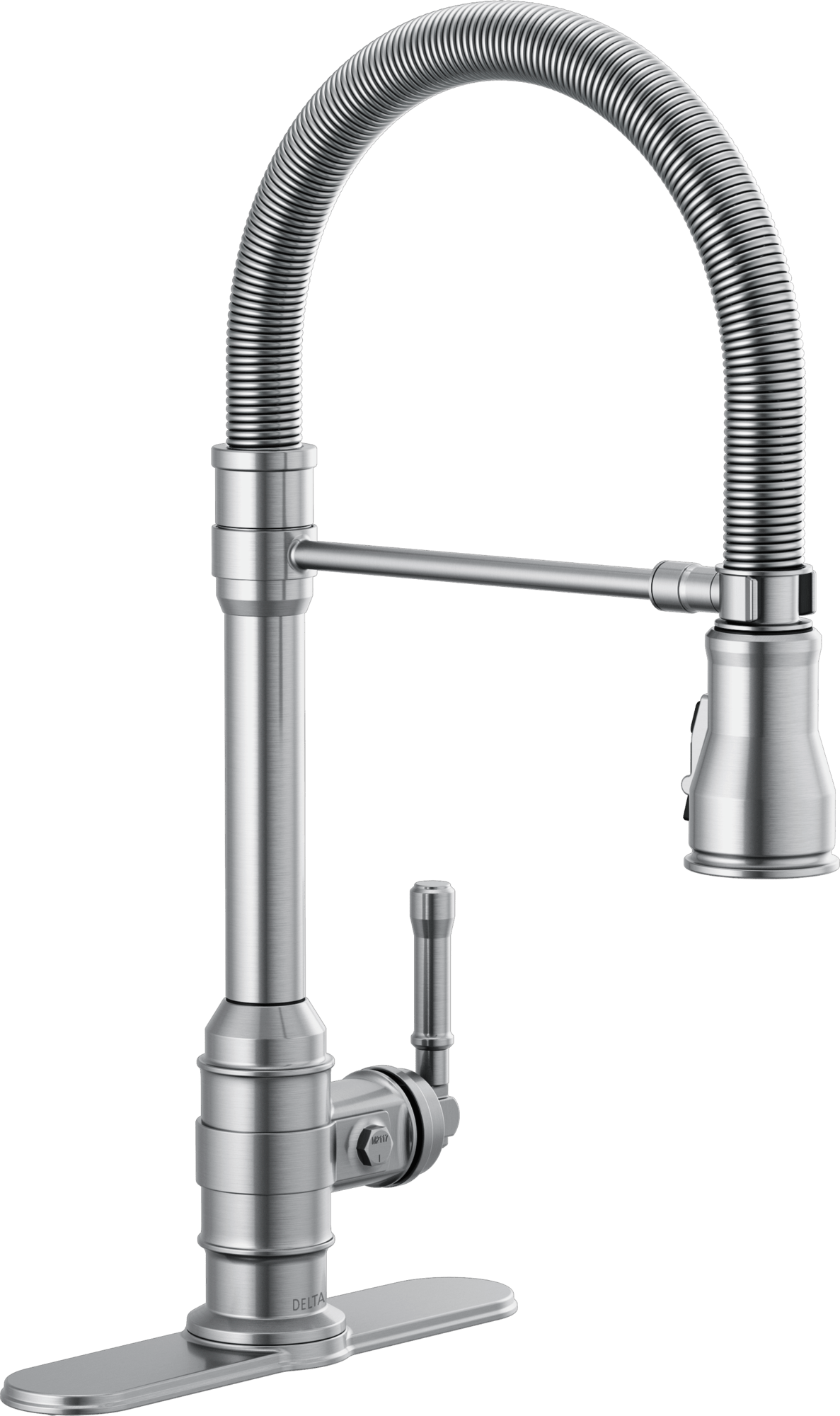 single handle pull down kitchen faucet with spring spout