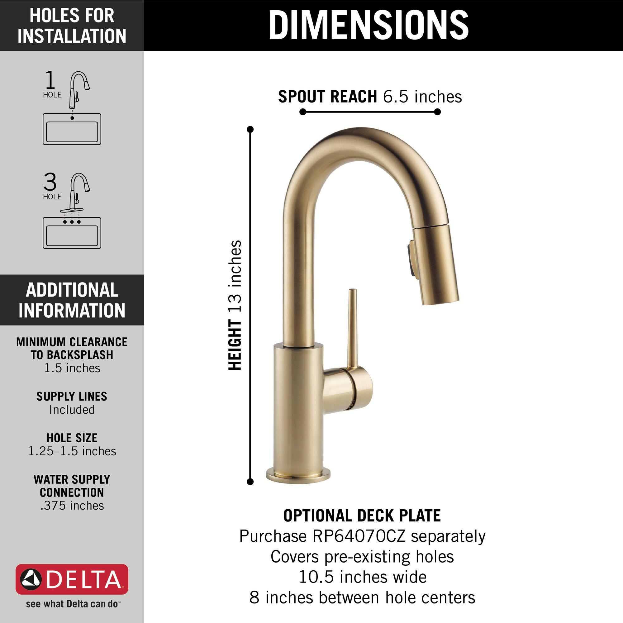 single handle pull down bar prep faucet