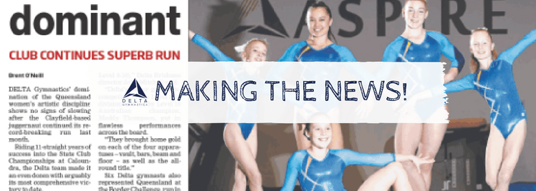 Delta Gymnasts Make the News