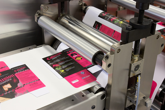 Semi-rotary Carton Cutting for digitally printed card stock.