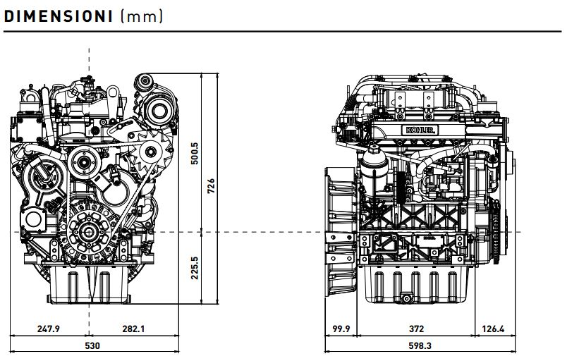 Kohler diesel engine KDI 1903 TCR: common rail engine