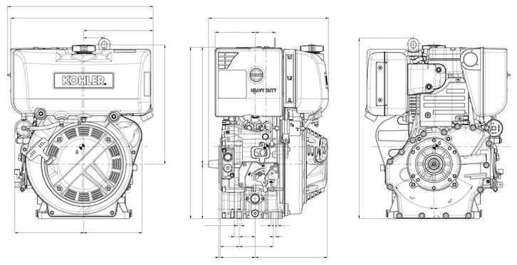 Motore Lombardini 15LD 440 diesel