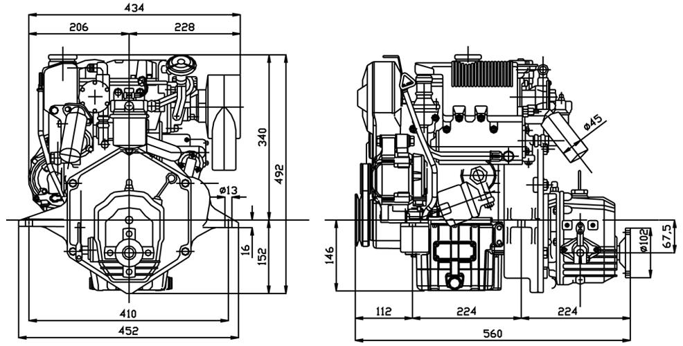 Lombardini Marine inboard engine LDW 502M