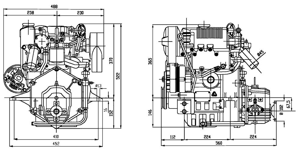 Lombardini Marine inboard engine LDW 702M