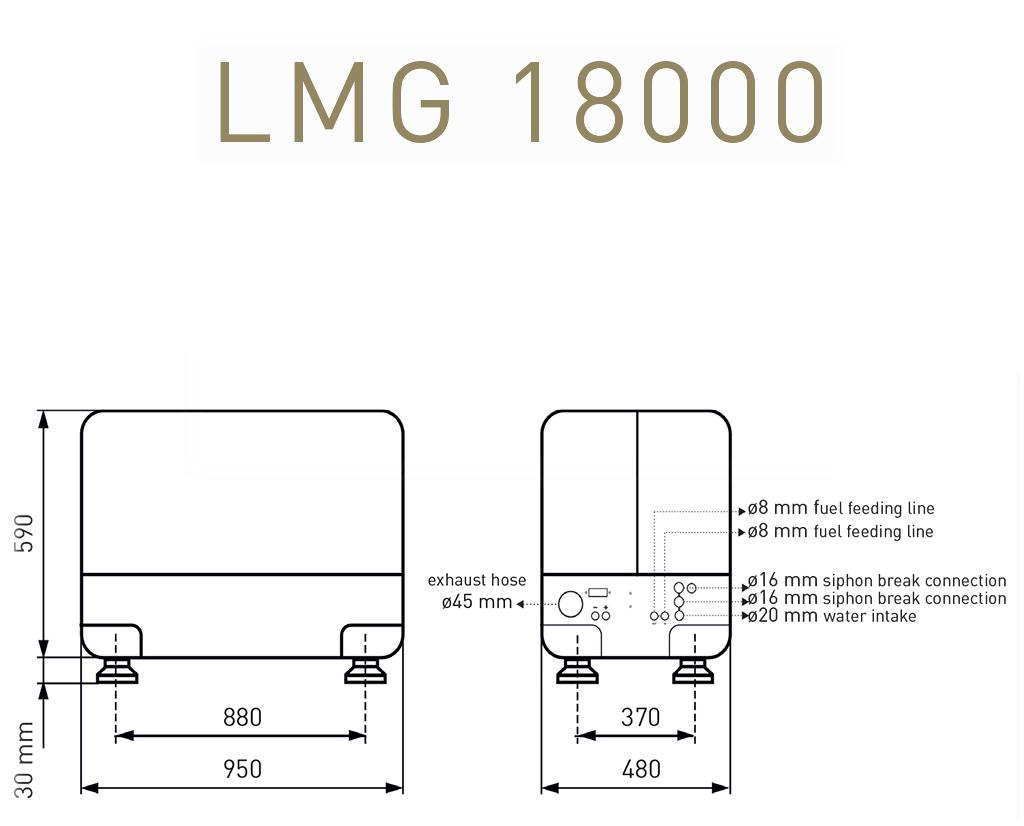 Gruppo elettrogeno Lombardini Marine LMG 18000
