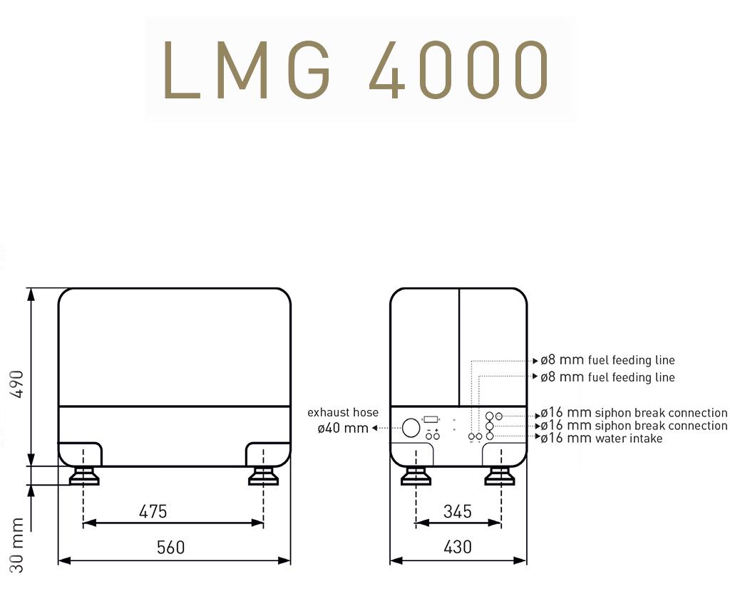 Gruppo elettrogeno Lombardini Marine LMG 4000