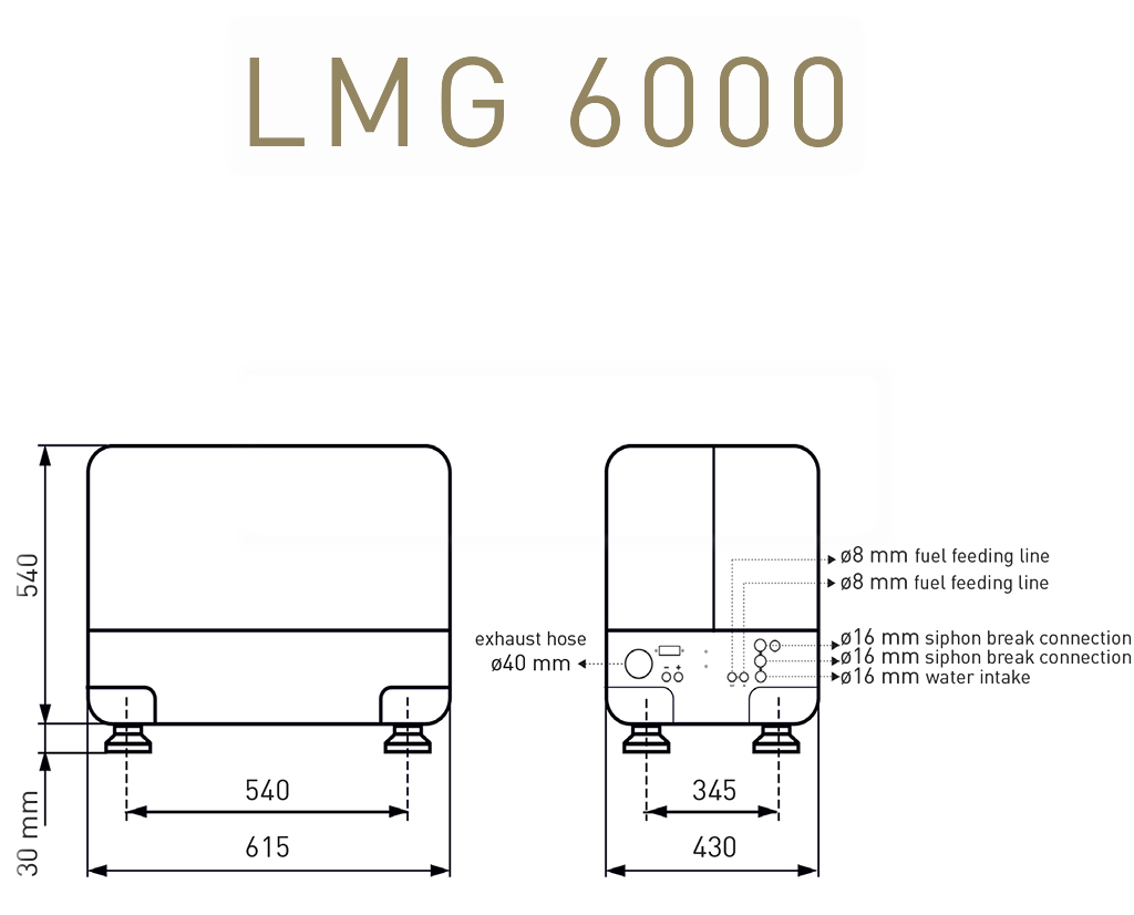 Gruppo elettrogeno Lombardini Marine LMG6000