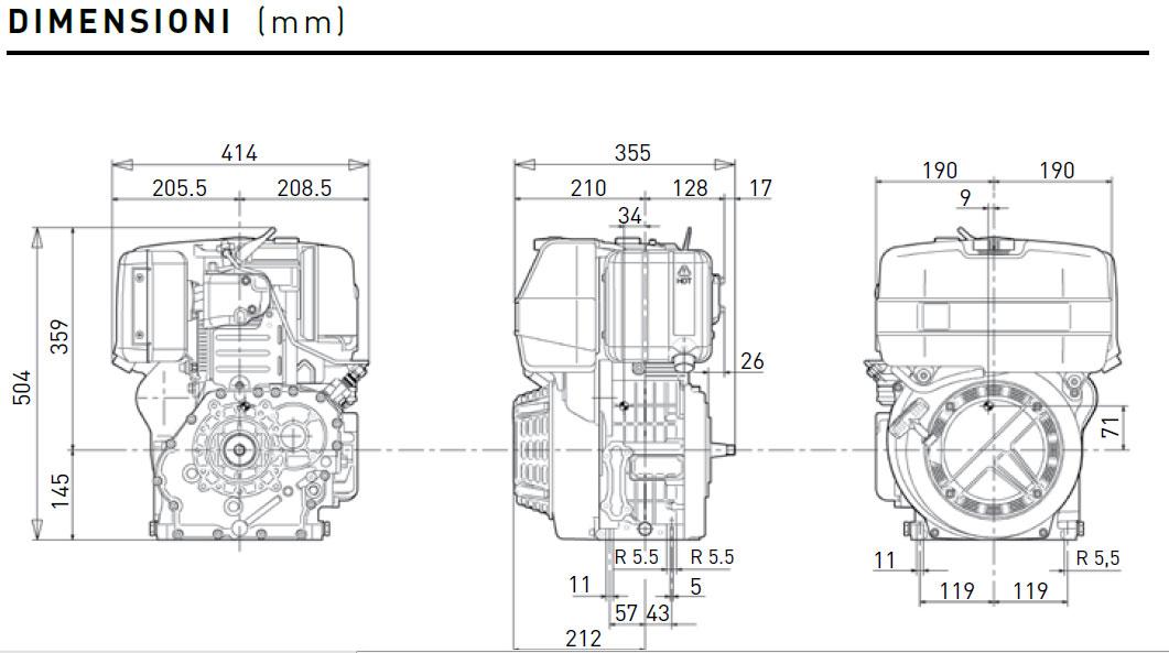 Motore Diesel Lombardini 15 ld 500