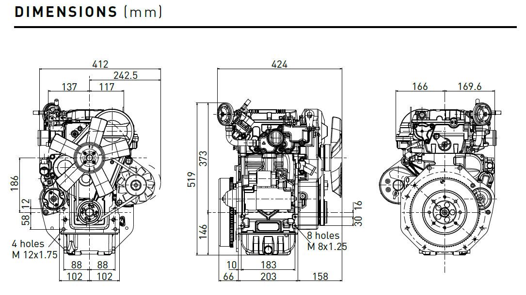 Lombardini engine LDW 702 diesel