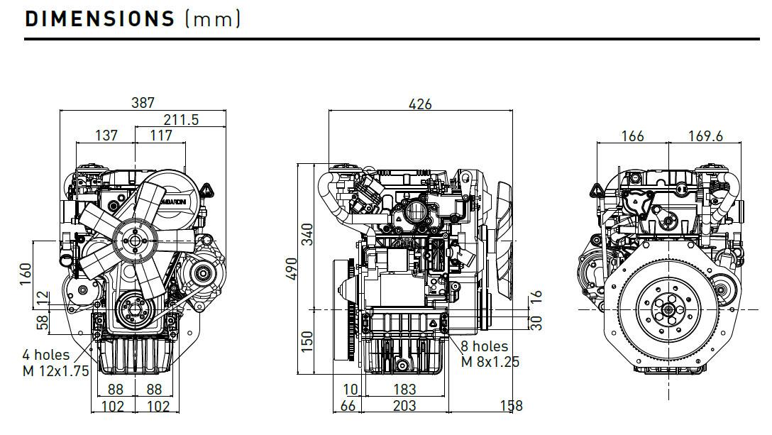 Motore Lombardini Ldw 502 Diesel