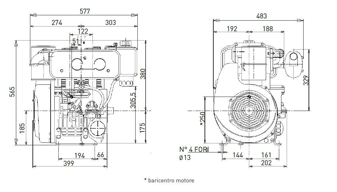 Motore Lombardini Diesel 12LD 477/2