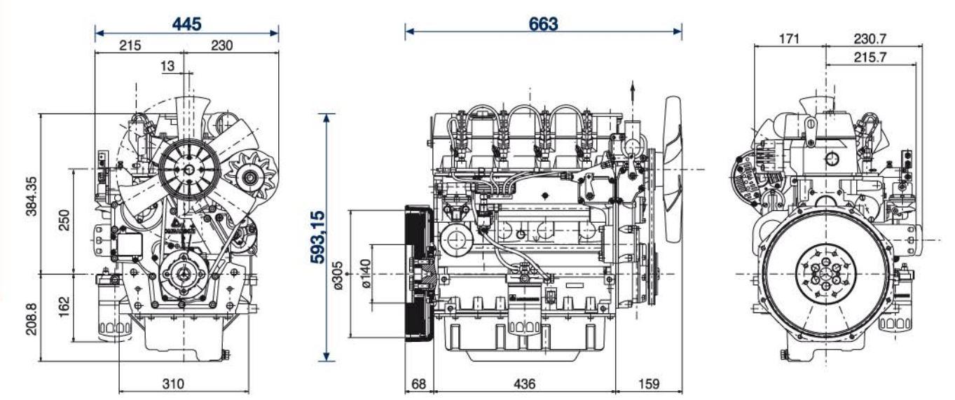 Lombardini diesel engine LDW 2204 chd