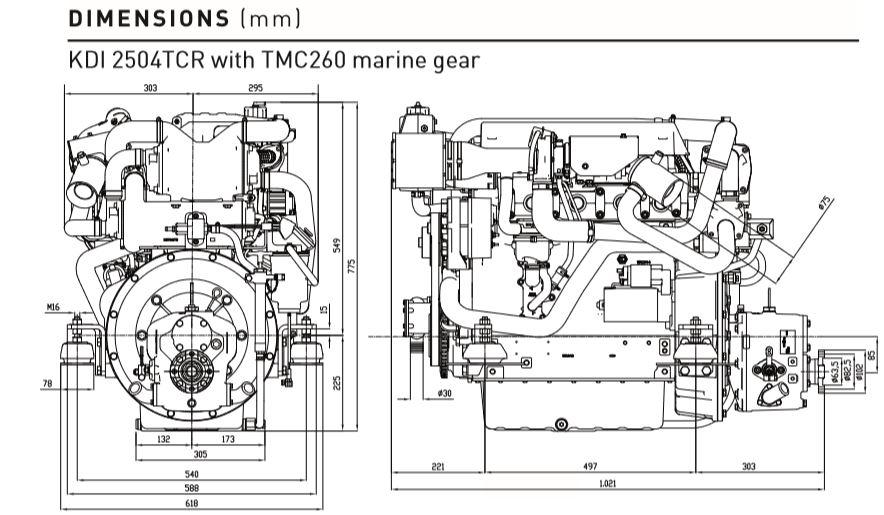 Motore Lombardini Marine Kohler KDI 2504 TCR M