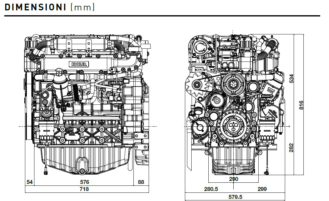Kohler diesel engine KDI 3404 TCR: turbo common rail engine