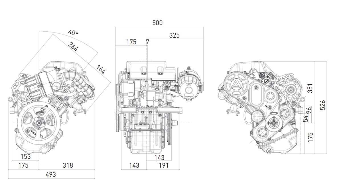 Lombardini LDW 492 diesel automotive CT move engine