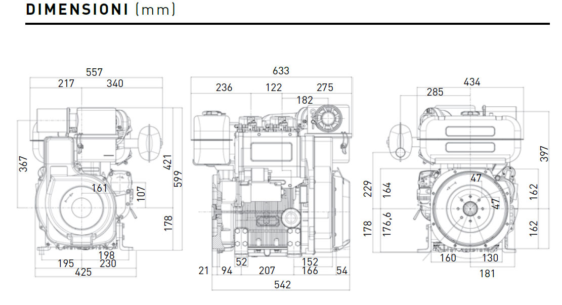 Lombardini diesel engine 9LD 625/2