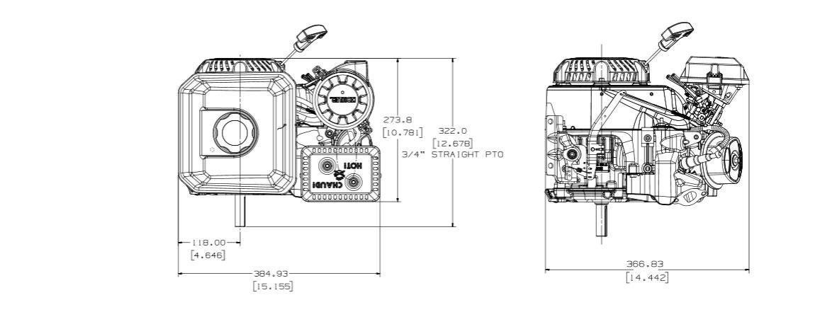 Motore benzina Kohler Command PRO Small Horizontal CH270