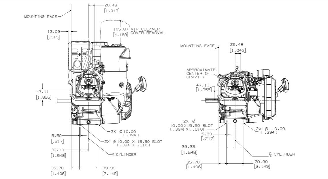 Kohler Command PRO Small Horizontal gasoline engine CH270
