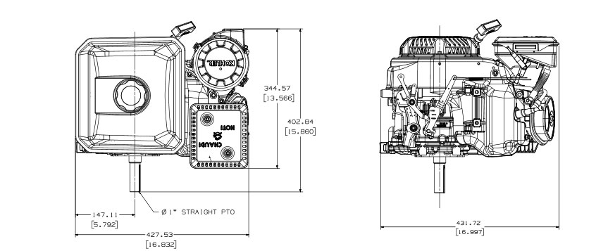 Kohler Command PRO Small Horizontal CH395 gasoline engine