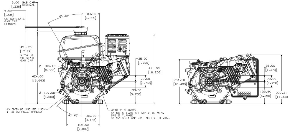 Motore benzina Kohler Command PRO Small Horizontal CH395