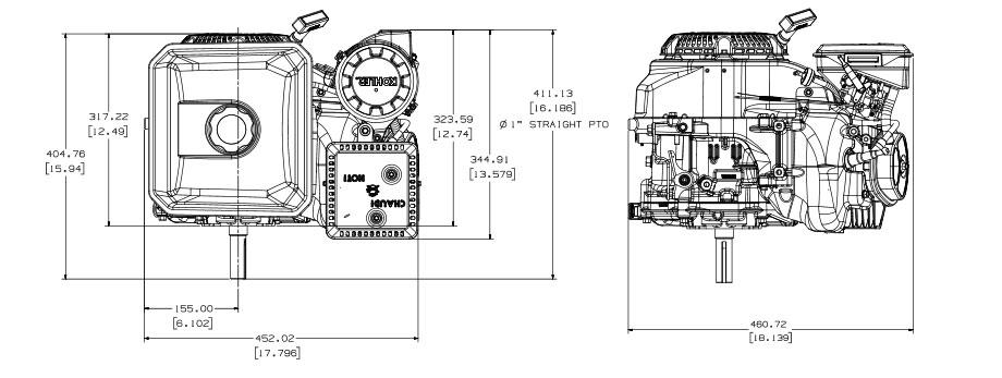 Motore benzina Kohler Command PRO Small Horizontal CH440