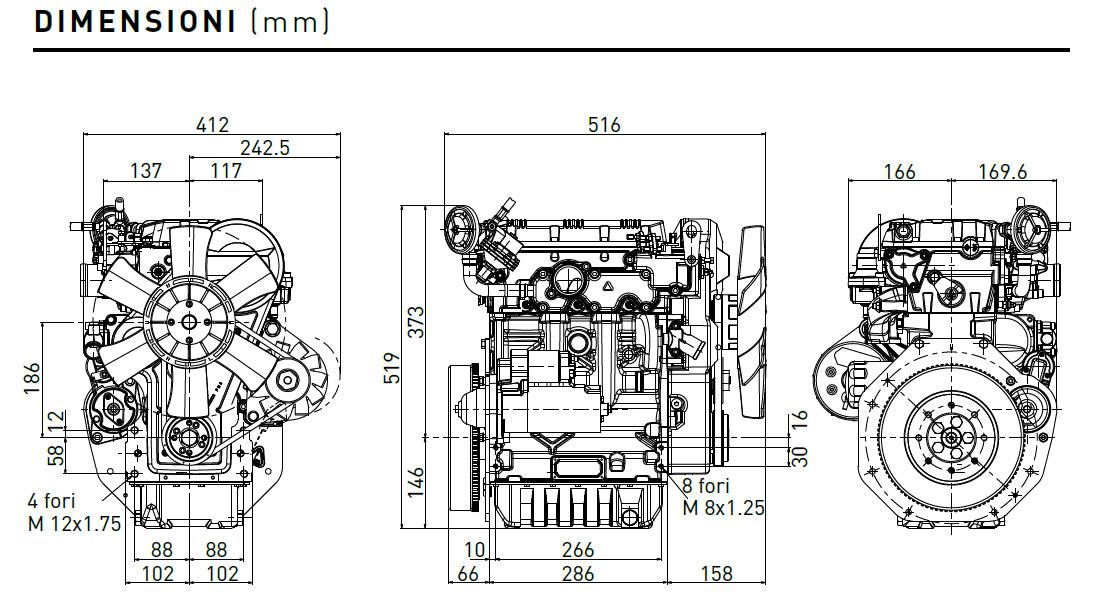 Lombardini diesel engine LDW 1003