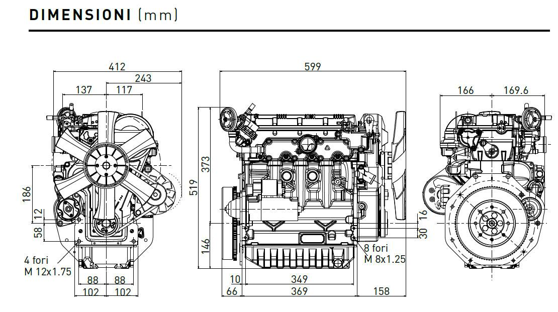 Motore Diesel Lombardini LDW 1404