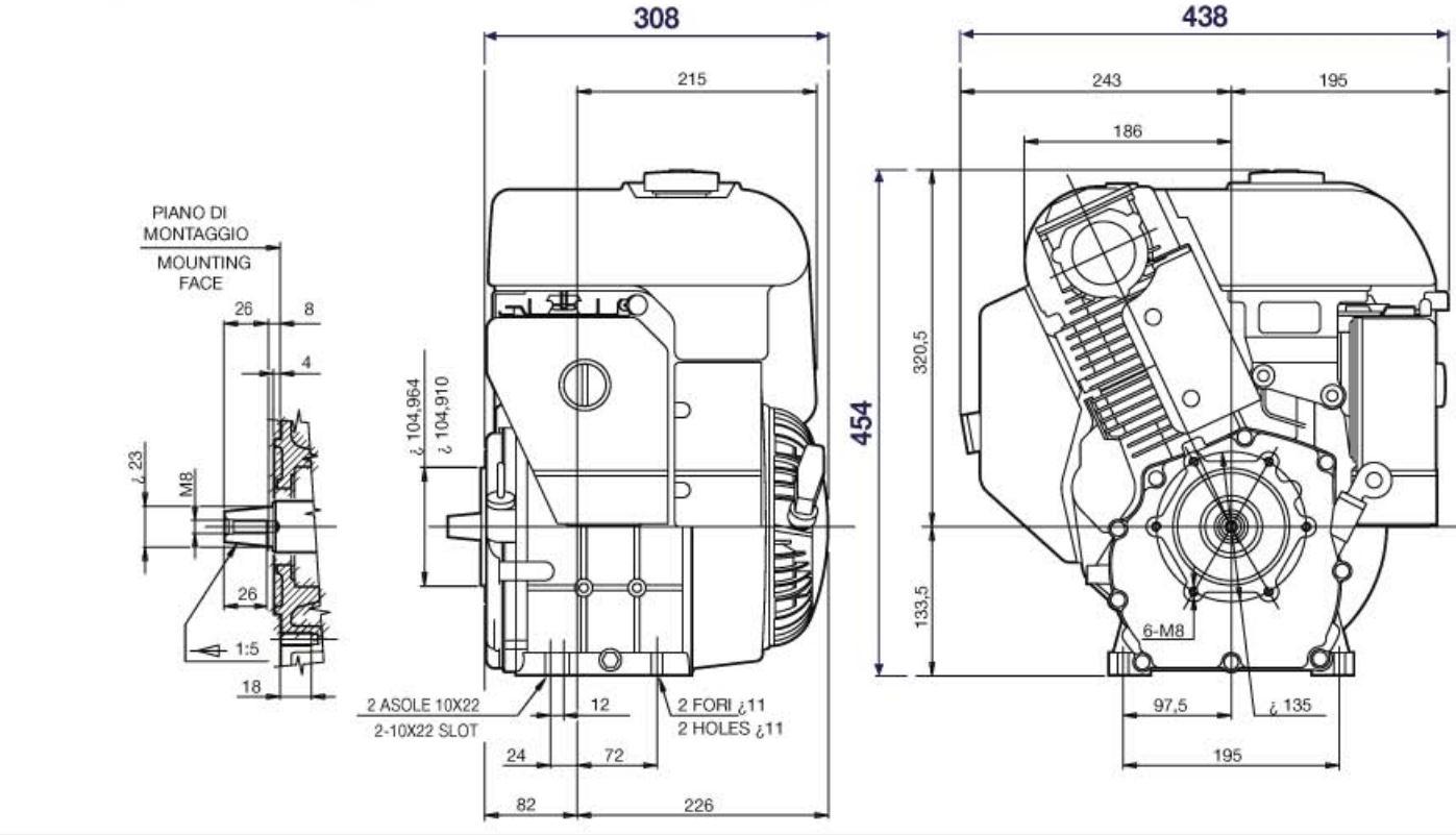 Motore Benzina Lombardini LGA 340