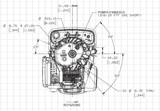 Motore benzina Kohler Courage XT-7: asse verticale