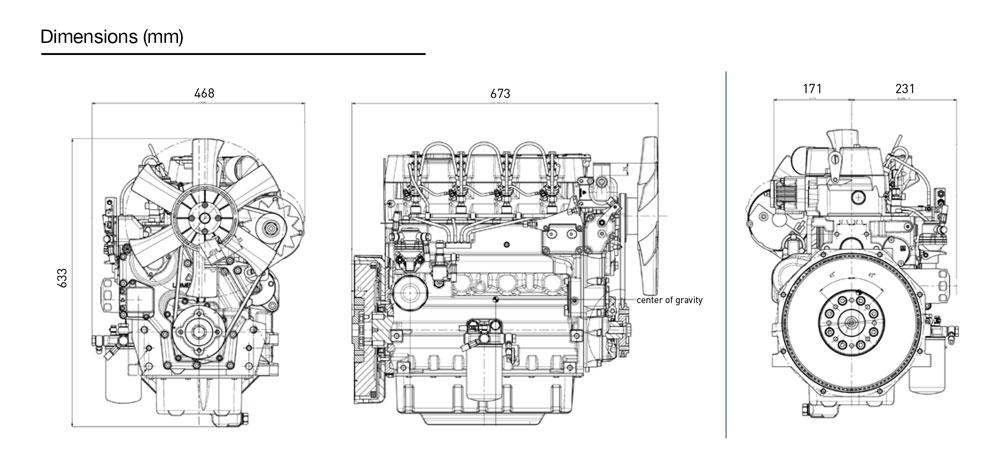 Kohler KDW 2204 diesel engine: liquid-cooled