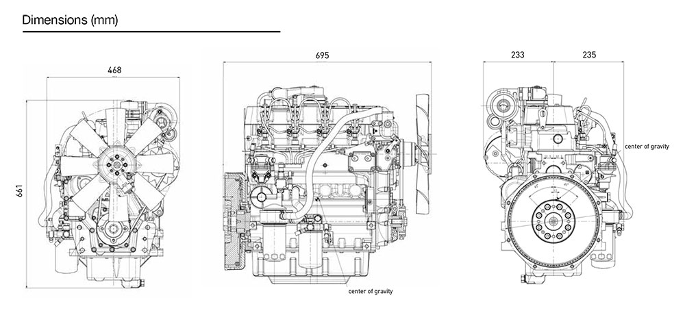 Kohler KDW 2204T diesel engine: liquid-cooled