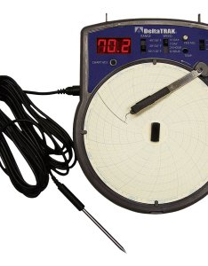 Electronic circular temperature chart recorder also recorders deltatrak rh