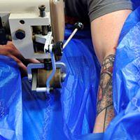 machine à coudre spi bleu voilerie bretgane côtes-d'Armor
