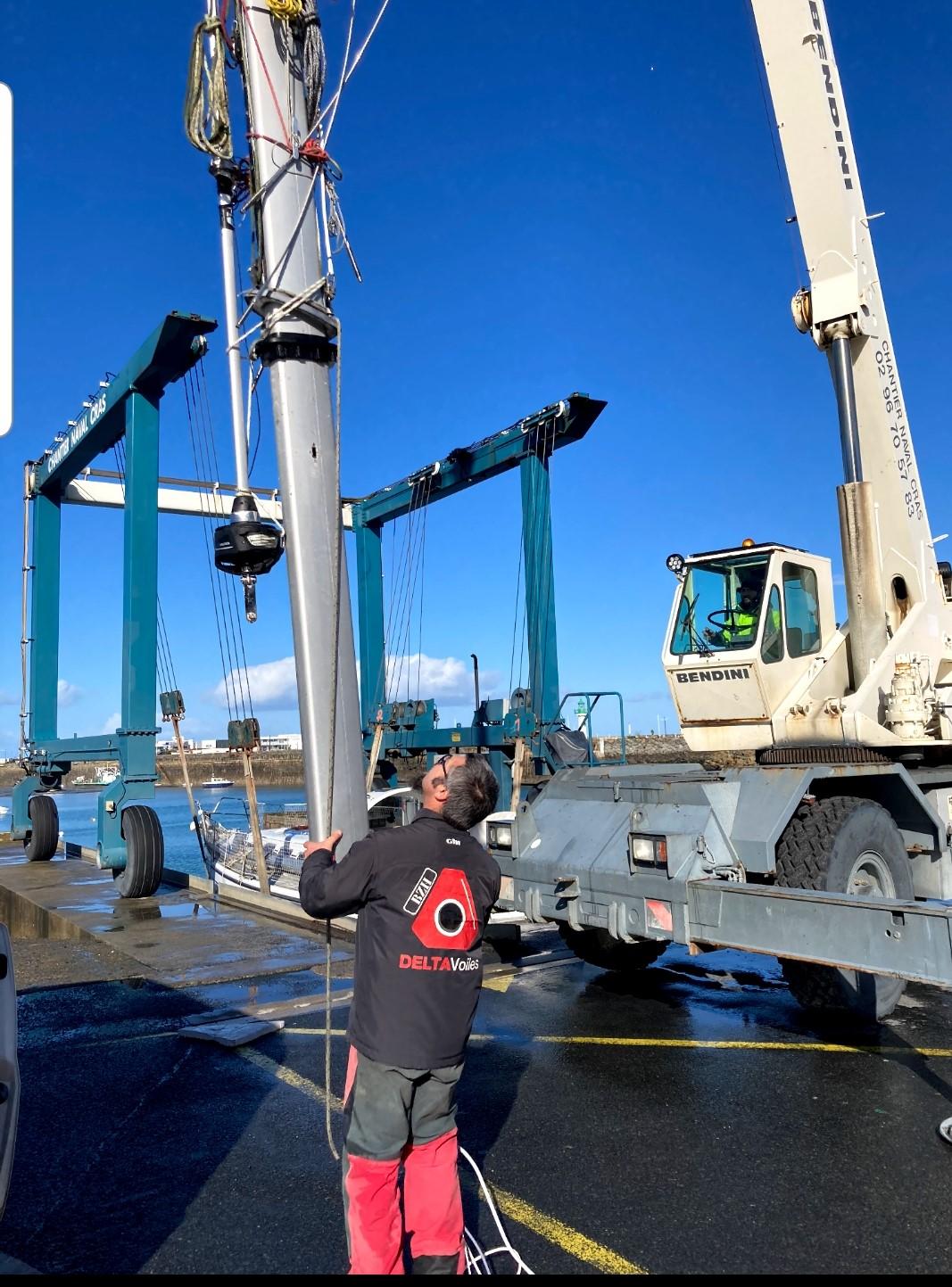 Stéphane à Saint-Quay-Portrieux pour un chantier