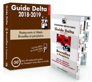 Guide Delta Bruxelles 2018 cover 300x269 - « Un repas est insipide, s'il n'est assaisonné d'un brin de folie… » (Érasme)