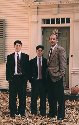 Photo Of Albany, NY Plastic Surgeon Dr. DeLuca With Sons - DeLuca Plastic Surgery