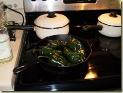 roasting chilis