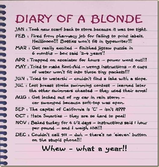 Top 10 Blonde Jokes