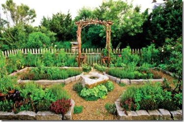 great idea for raised bed